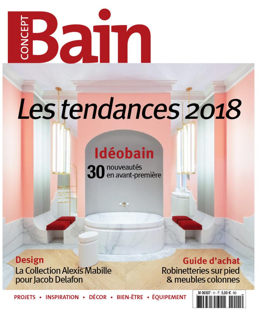 Les nouveautés 2018 : CADO, EQUIDO et ERESCO dans le magazine Concept Bain Automne 2017